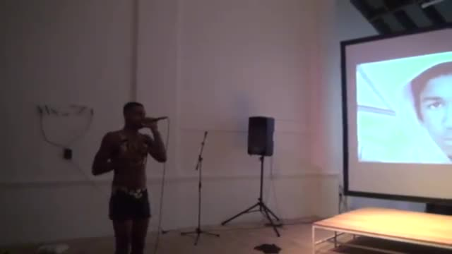 Video documentation of a performance by Ian Isiah.